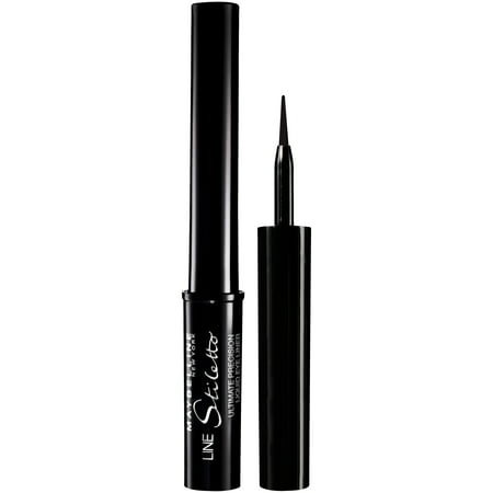 Halloween Makeup Eyeliner (Maybelline New York Line Stiletto Ultimate Precision Liquid Eyeliner, Blackest Black, 0.05 Fl)