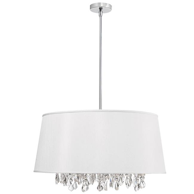 Rht Baroness 8 Light Crystal Chandelier With White Shade Walmart Com