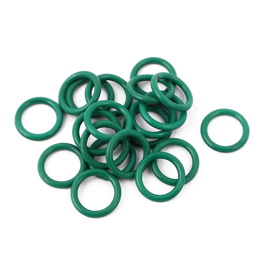 20 Pcs 10.5 x 1.5mm Oilproof NBR Nitrile Rubber O Sealing Ring Nonpoisonus Green