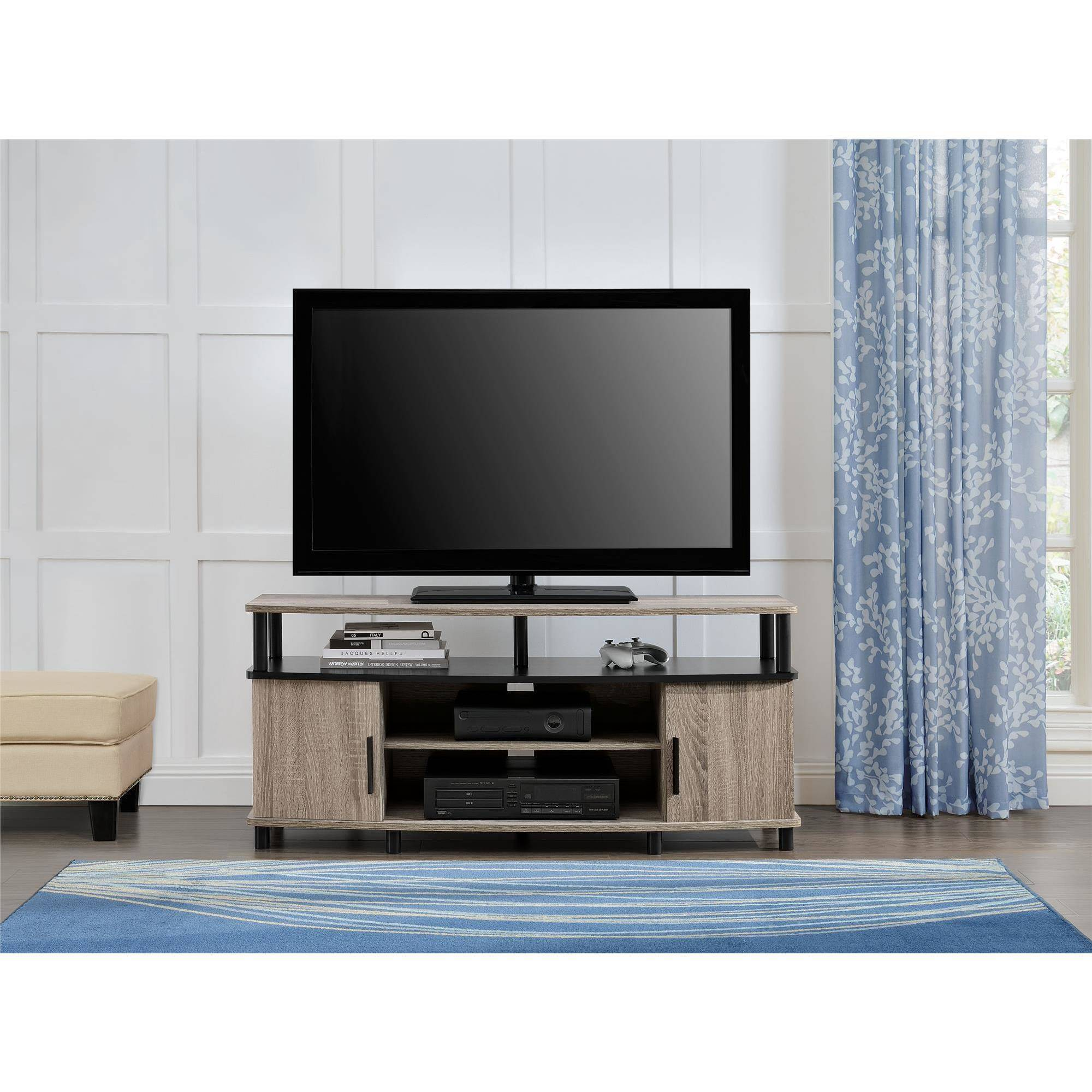 "TV Stand Oak Carson Sonoma For TVs Up To 50"" Living Room"