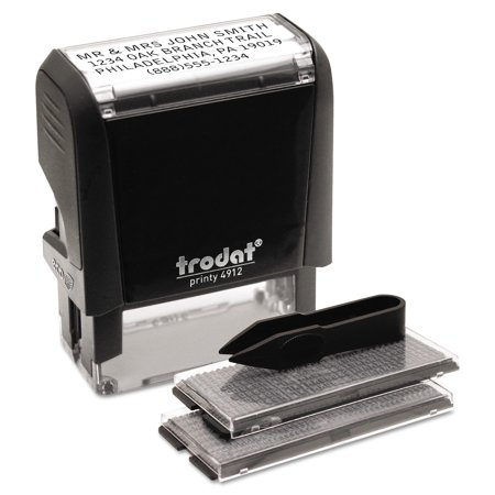 (Trodat Self-Inking Do It Yourself Message Stamp, 3/4 x 1 7/8)