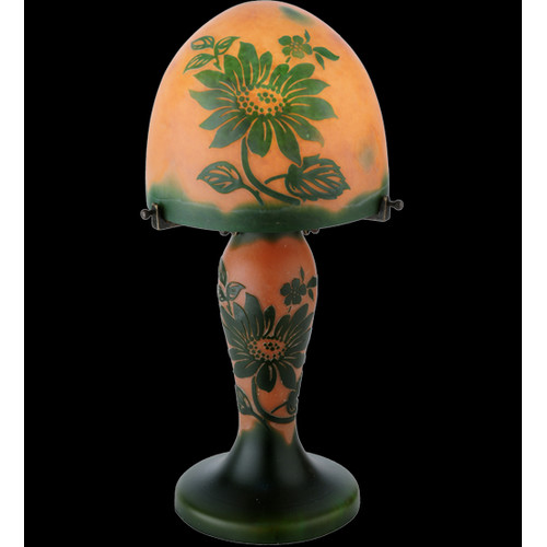 Meyda Tiffany Floral 15'' H Table Lamp with Dome Shade