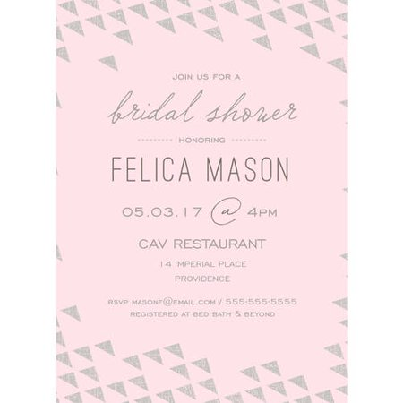 Print pattern standard bridal shower invitation walmartcom for Walmart wedding shower invitations