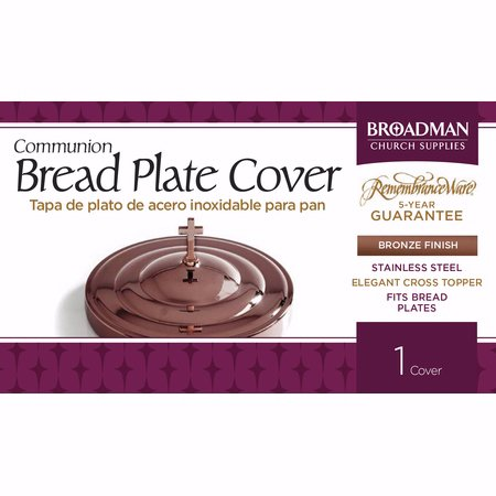 Communion Remembranceware Bronze Bread Plate Cover  Stainless Steel