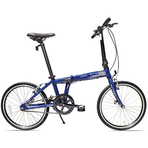 Allen Sports Urban 1-Speed Aluminum Folding Bicycle, Blue