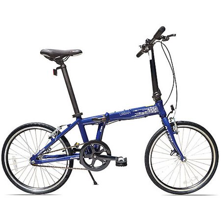 Allen Sports Urban 1-Speed Aluminum Folding Bicycle, Blue