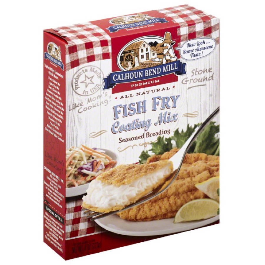 Calhoun Bend Mill Premium Fish Fry Coating Mix, 8 oz, (Pack of 6)