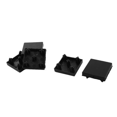 - Rectangle Aluminum Profile Part Black End End Cap 30mm x 30mm 5 Pcs