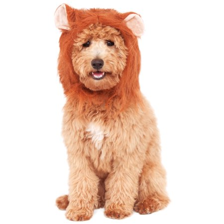Lions Mane Pet King Of The Jungle Furry Costume Headpiece Hat-M-L - Lion King Halloween Costumes For Babies