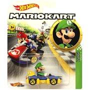 Hot Wheels Luigi Super Mario Kart Character Car Diecast 1:64 Scale