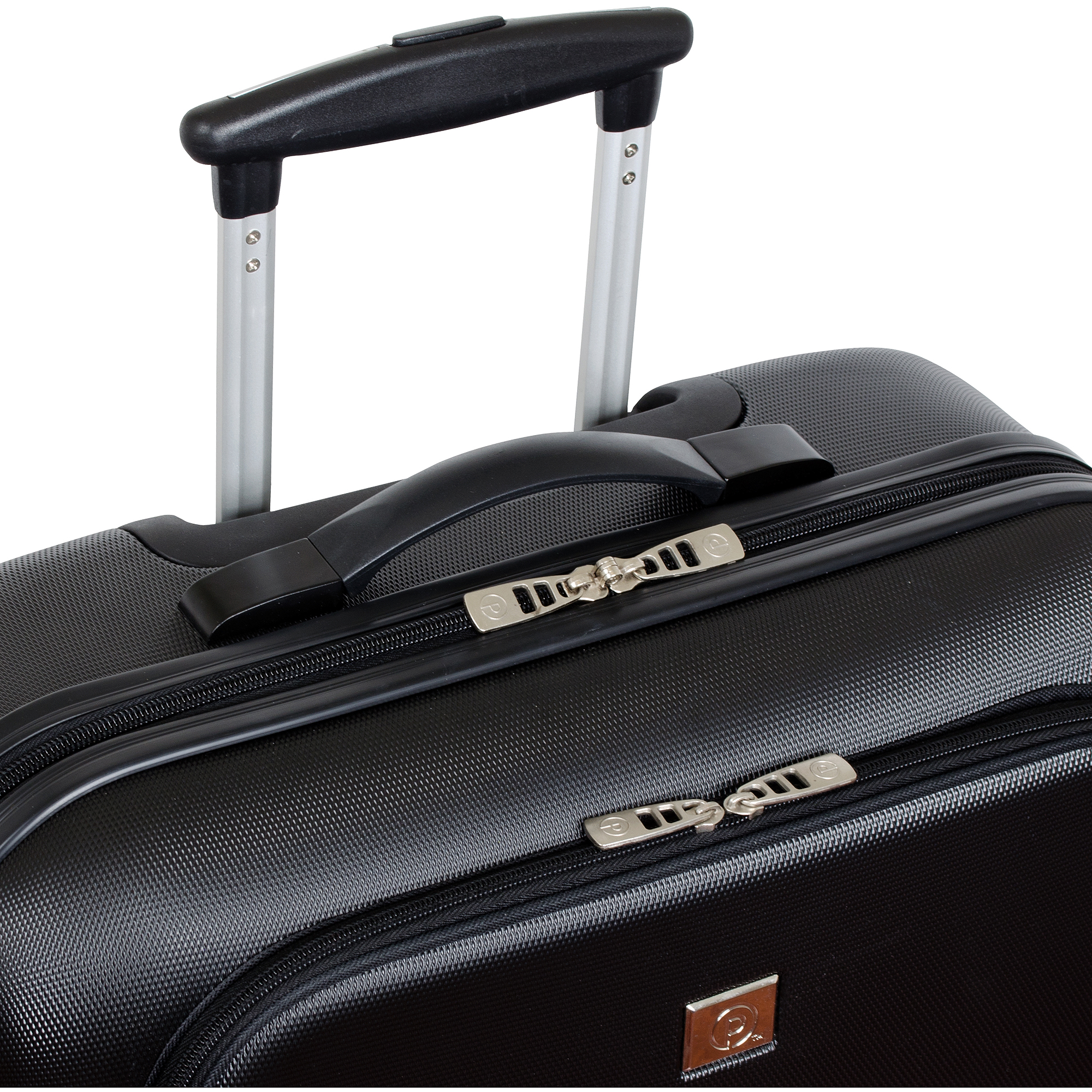 """Protege 18"""" Hard-Side Rolling Briefcase with Laptop Section, Black"""