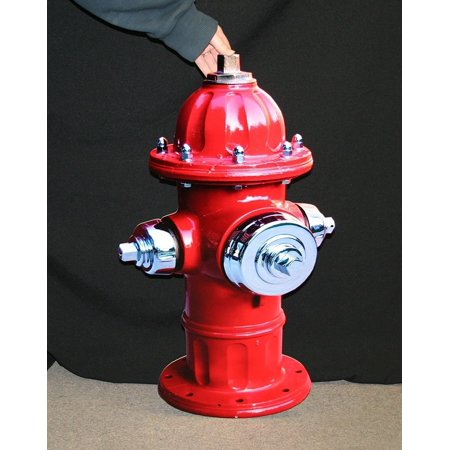 - Red Shiny Fire Hydrant Metal Wall Sign - 34