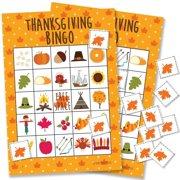 thanksgiving bingo game - 24 players