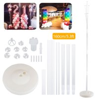 TSV Balloons Column Stand Kits, Balloon Stand Kit 4.3/5.3Ft with Water Fillable Balloon Column Base Balloon Columns Arch  Balloon Tower Decorations for Table Birthday Baby Shower Wedding Graduation