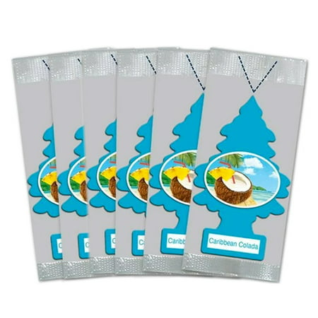Little Trees Car Air Freshener 6-Pack (Caribbean