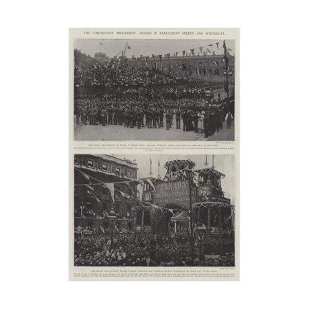 The Coronation Procession, Scenes in Parliament Street and Whitehall Print Wall Art