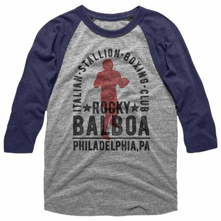 Rocky Movies Balboa Boxing Club Adult 3/4 Sleeve Raglan Shirt (Bowling Halloween)