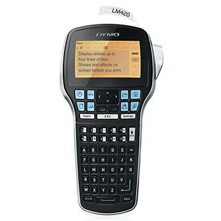 DYMO LabelManager 420P High Performance Rechargeable Portable Label Maker with PC or Mac connection