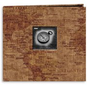 Pioneer Travel Postbound Album with Photo Window 12''X12'', World Map