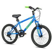 """BCA 20"""" Crossfire 6-Speed Boy's Mountain Bike, Blue/Green"""