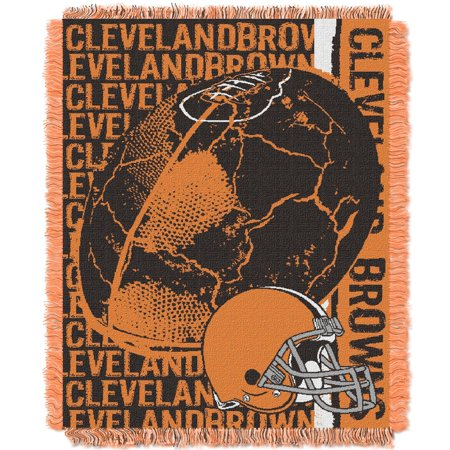 Cleveland Browns The Northwest Company 46'' x 60'' Double Play Jacquard Throw - No Size (Cleveland Browns Decor)