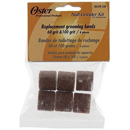 Oster Pro Nail Grinder Replacement Grooming Bands 18 Total (9pcs of 60 Grit and 9pcs of 100 Grit)