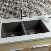 Hahn 33'' L x 18.5'' W Granite Extra Large Double Bowl Kitchen Sink