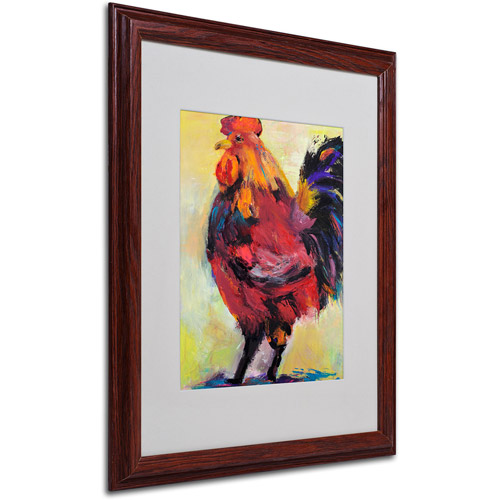 """Trademark Fine Art """"In Command"""" Matted Framed Art by Pat Saunders"""