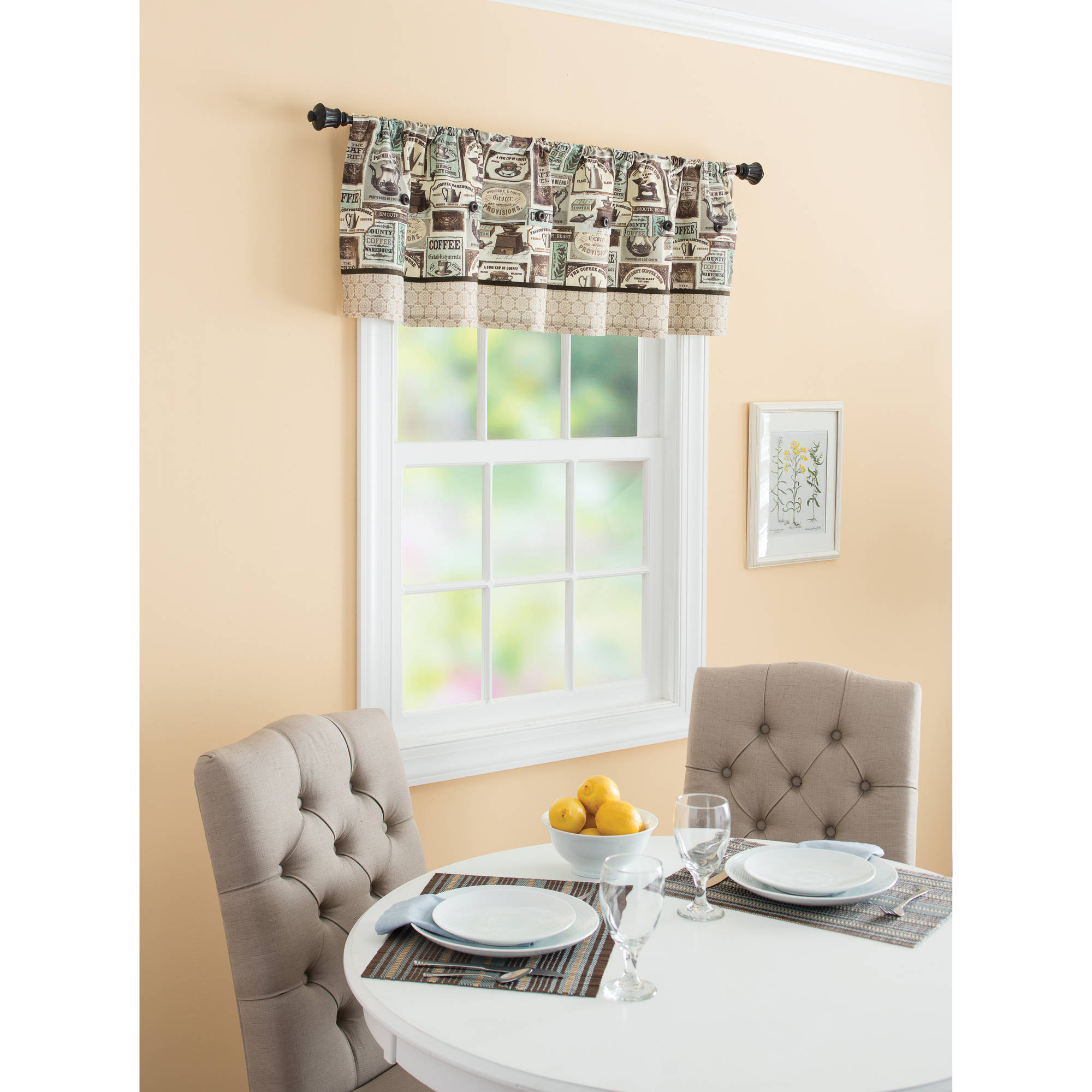 Cafe Kitchen Window Curtains Walmart Com