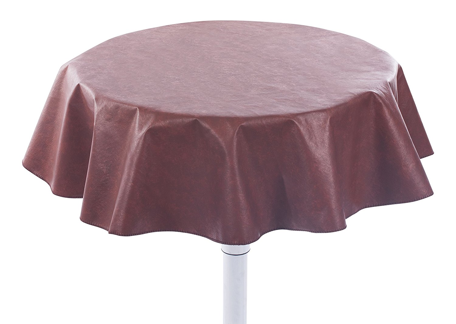 Heavy Duty Flannel Backed Round Vinyl Tablecloth U201aÄì 6 Gauge Thickness,  Indoor And Outdoor
