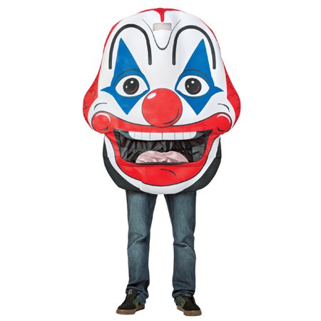 Clown Mouth Head Men's Adult Halloween Costume, One Size, (40-46)
