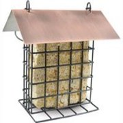 PineBush PINE07507 Metal Suet Feeder with Brushed Copper Roof