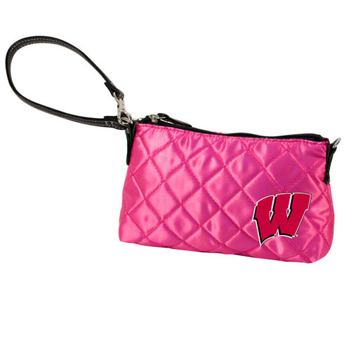 NCAA - Wisconsin Badgers Pink Quilted Wristlet