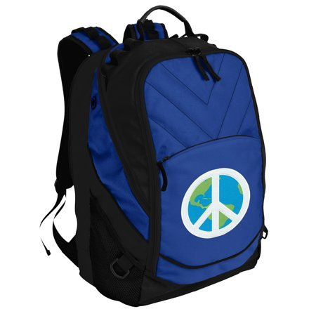 Deluxe Peace Sign Laptop Backpack World Peace Backpack or School Bag