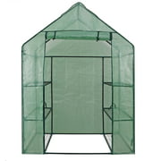 Mini Walk-in Green House Indoor Outdoor Garden Yard Patio 3 Tier 6 Shelves Movable Plant Greenhouse for Growing Flowers Potted Plants
