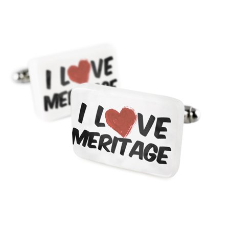 Cufflinks I Love Meritage Wineporcelain Ceramic Neonblond