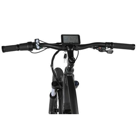 "T4B Enduro Hard Tail City and All Terrain Bike - Bafang 350W Brushless Electric Motor, 8 Speed, Samsung Li-Ion Battery 36V13Ah, 27.5"" Tires - Black - image 7 de 12"