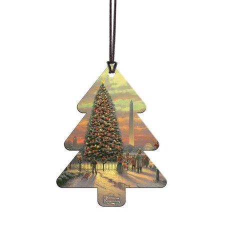 - Trend Setters Thomas Kinkade Symbols Of Freedom Hanging Tree Shaped Ornament