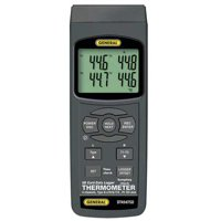 GENERAL DT4947SD Thermocouple Thermometer,Type K,4 Inputs