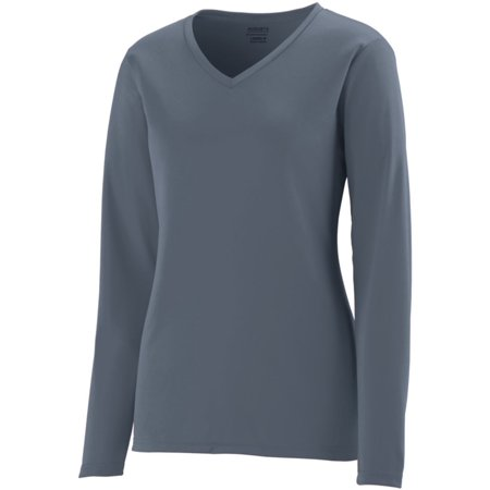 Augusta LADIES L/S WICKING T-SHIRT GRAPHITE S