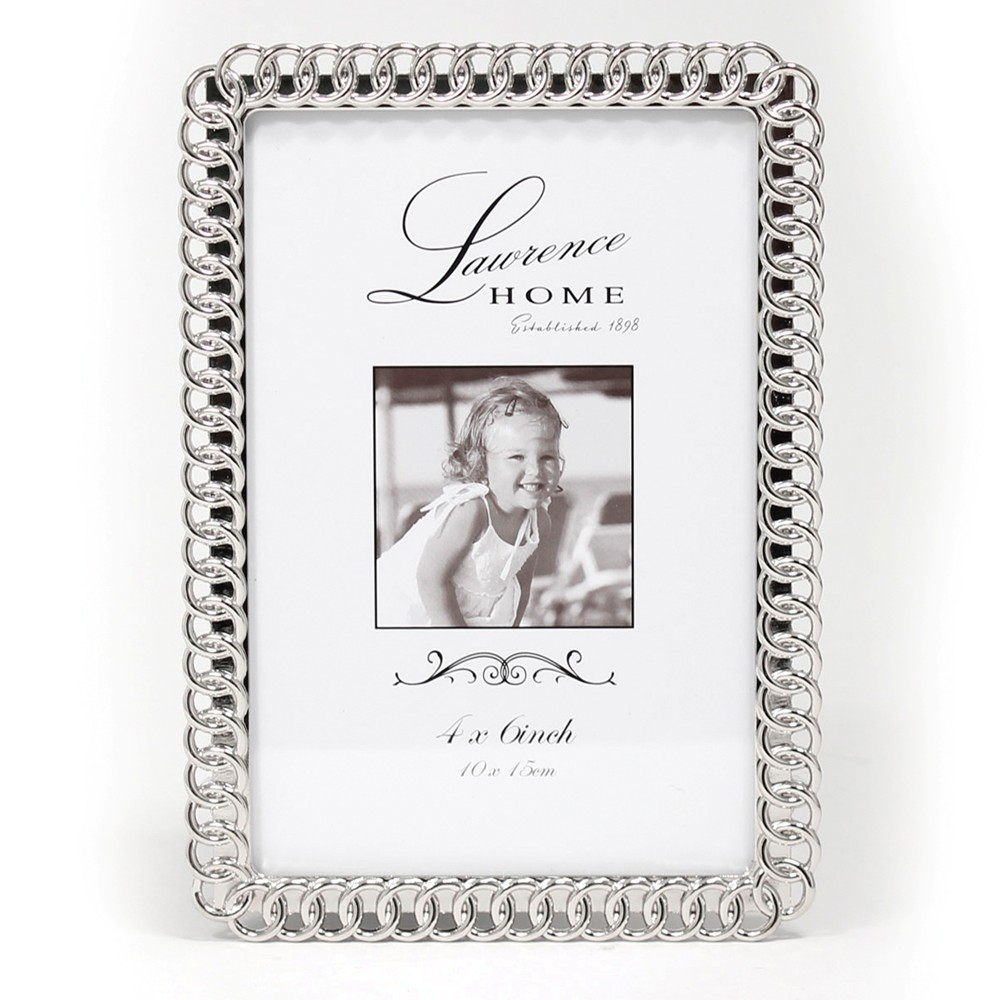 4x6 Eternity Rings Metal Picture Frame