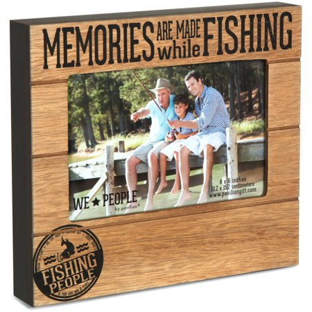 Pavilion Gift Company 67219 Fishing People 4x6 Photo Frame - Fishing Photo Frames