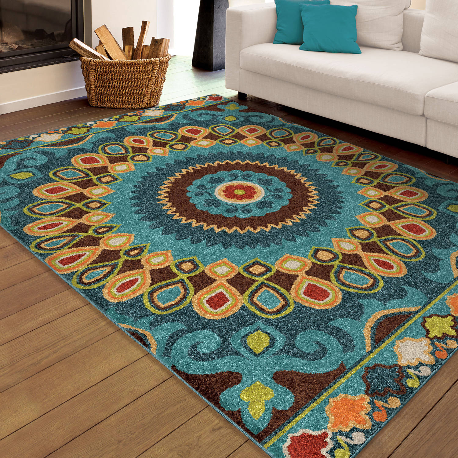 Orian Rugs Bright Indoor Outdoor Singapore Multi Area Rug
