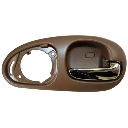 Door Cover Housing - PT Auto Warehouse CH-2334ME-RR - Inner Interior Inside Door Handle, Beige Housing with Chrome Lever - without Speaker Cover, Passenger side Rear