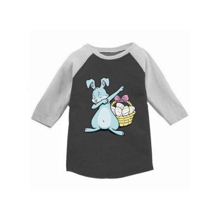Awkward Styles Dabbing Easter Bunny Raglan Shirt for Toddlers Funny Easter Dab Jersey for Boys Cute Easter Bunny 3/4 Sleeve Shirt for Girls Easter Egg Gifts for Kids Easter Holiday - Skirts For Kids