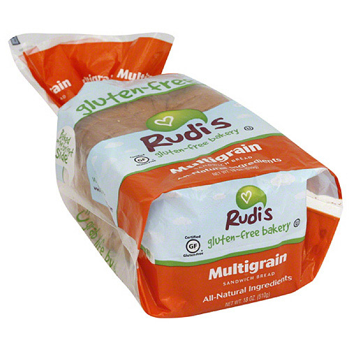 Rudi's Gluten-Free Bakery Multigrain Sandwich Bread, 18 oz (Pack of 8)