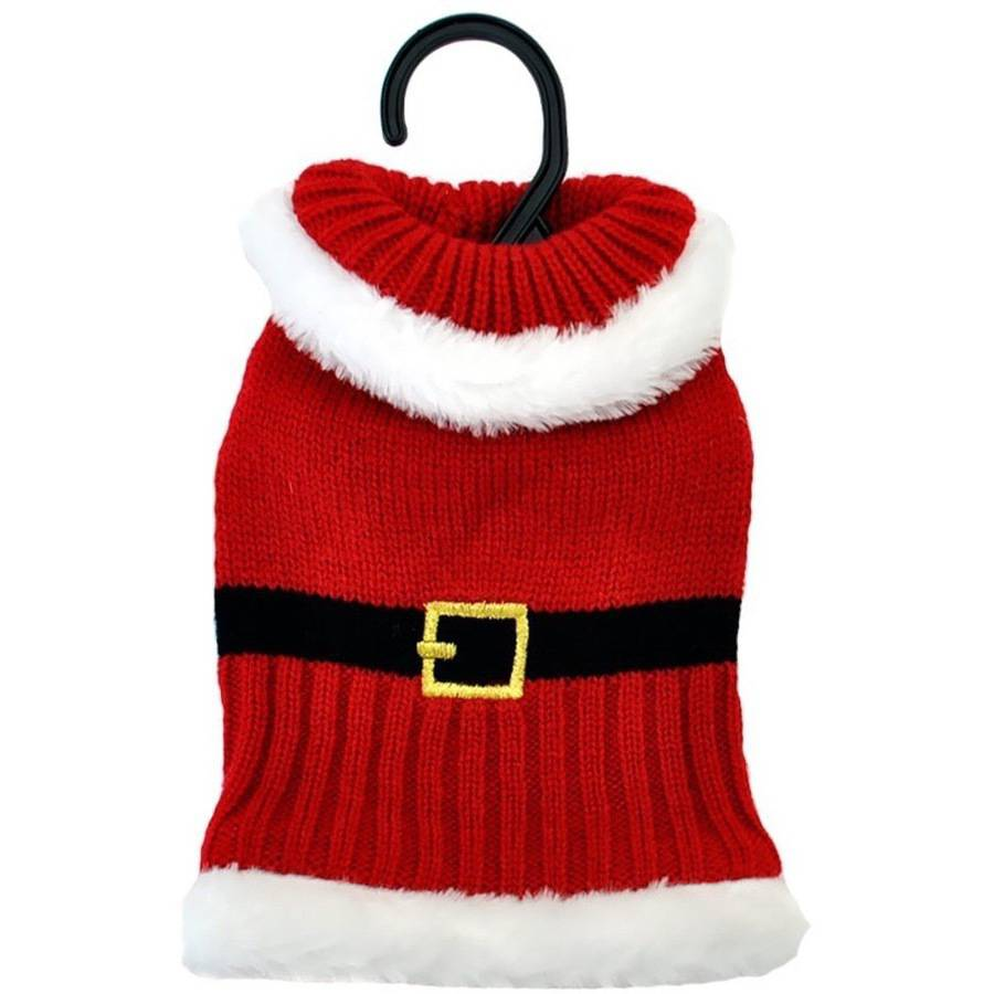 Otis & Claude Fetching Fashion Holiday Santa Sweater, X-Small