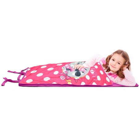 Disney Minnie Mouse Memory Foam Slumber Sack Backpack Nap Sack