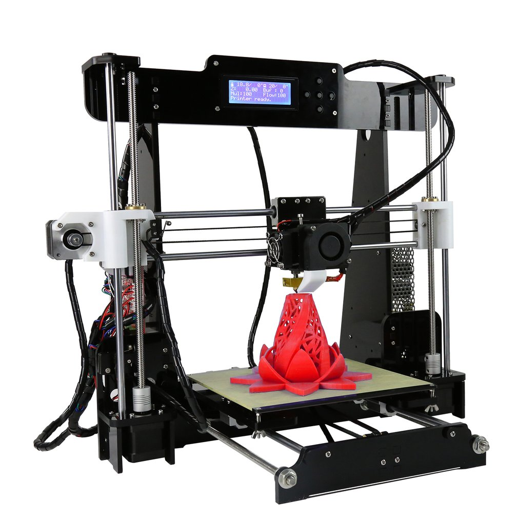 Anet A8 High Precision Desktop i3 DIY 3D Printer Kits 3d Drucker LCD Screen with 8GB SD Card Printing Support ABS/PLA/HIP/PP/Wood Filament