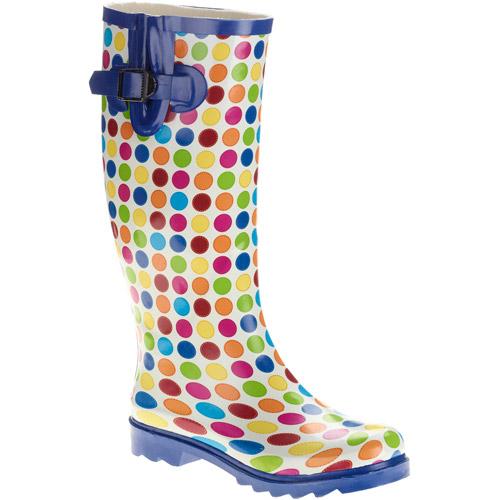 Women's Dot Buckle Rain Boot